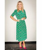 NEW L.K.Bennett Dorothy Sail Print Dress, Green/Multi Sz UK 8,12,14