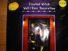 Crashed Witch Door/Wall Crashing Yard Halloween decoration decor mural pole NEW!
