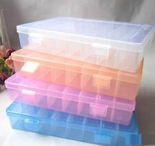 FD1942 24 Cells Storage Box Case for Rainbow Loom Kit Rubber Bands Charms Hook