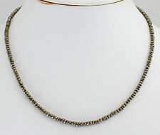 pyritkette Precious Stone Necklace Pyrite Golden Facetted Rondelle New Top