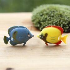 4 pcs Miniature Tropical Fish Fairy Garden Animal Ornament Terrarium Supplies