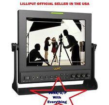 "Lilliput 9.7"" 969A/O/P IPS Dual HDMI in field Monitor PEAKING +V MOUNT+Suitcase"
