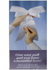 NEW 10 WILTON SATIN PULL BOWS WHITE PEW CHAIR DECORATION REUSABLE DYEABLE