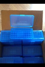 9MM 30 25 32 AMMO BOX 50 Round BERRY'S PLASTIC  401 (BUY 7 GET 3 FREE) (1) BLUE