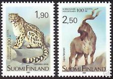 Snow Leopard Fillet Horn Goat Zoo Finland MNH 1989
