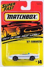 Matchbox '87 Corvette MB 14 Superfast China Casting 1996 MOC Mint On Card