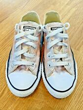 Converse All Star Metallic Rose Gold Girls' Kids Trainers - UK Size 1 - £30 RRP