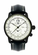 Orologi da polso fusi orari Dual Time con cinturino in pelle