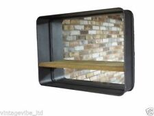 Rectangle Metal Frame Decorative Mirrors with Shelf