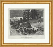 PAINTING ANIMAL VON PAUSINGER FIGHTING STAGS ART PRINT POSTER LAH487A