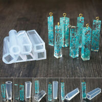 7 pcs Silicone Molds Pendant Resin Accessories Pendant Jewelry Making Tools