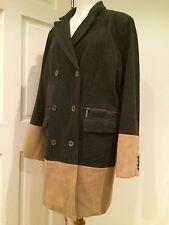 MICHAEL KORS misto lana cappotto lungo TRINCEA A Doppio Petto Cammello grigio 14