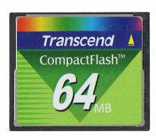 2pcs card  transcend 64MB Compact Flash CF Memory Card 64 MB CompactFlash I