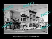 OLD LARGE HISTORIC PHOTO OF TONOPAH NEVADA, VIEW OF THE TONOPAH CLUB c1950