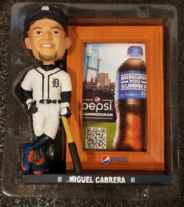 Miguel Cabrera Detroit Tigers Bobblehead Picture Frame 2019 #24 Miggy! Unused