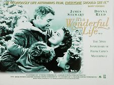 """Its a Wonderful Life 1946 16"""" x 12"""" Reproduction Movie Poster Photograph 2"""