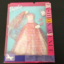 VINTAGE# Barbie Fashion Avenue Pink Gown Outfit Rare#MOSC