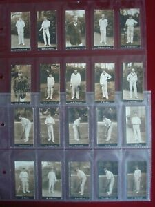 CIGARETTE CARDS ODDS - 1912 F & J SMITH - CRICKETERS NOTE CUT DOWN 28 in TOTAL
