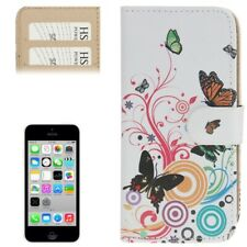 iPhone 5C Case Handytasche Ledertasche Standfunktion Schmetterling Motiv