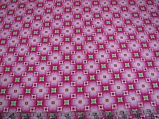 3 Yards Quilt Cotton Fabric - Timeless Treasures Tribecca Geo Flower Diamond Pnk