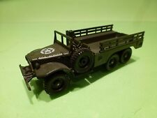 SOLIDO 242 US MILITARY DODGE 6x6 T223 WC 63 - ARMY GREEN - GOOD CONDITION