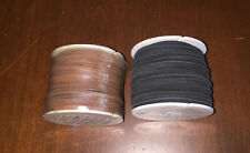 "Tandy Leather Suede Lace Lot of 2 1/8"" Lacing Medium Brown & Black"