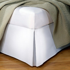 "Tailored Poplin Bedskirt - Fresh Ideas - 14"" Drop Full, White"