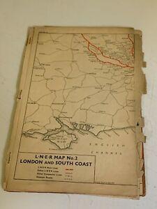 LNER Vintage Railway Maps Job Lot