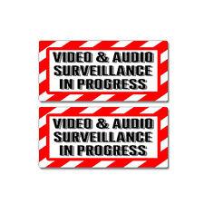 Video & Audio Surveillance In Progress - Window Business Sticker Set