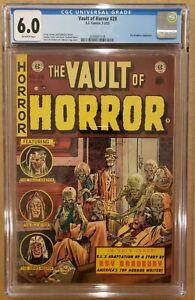 Vault of Horror #29 CGC 6.0 OW Johnny Craig cover EC Comics 1953 FN