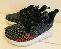 Adidas Quester Flow Running Athletic Shoes Boys US 11.5 K Black Sneakers