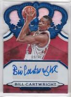 2018-19 Bill Cartwright Auto #/35 Panini Crown Royale Blue Die-Cut