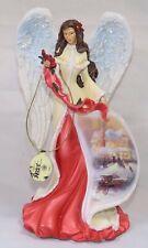 Bradford Exchange Thomas Kinkade Gifts of Christmas Poinsettia Angel Figurine