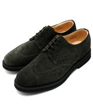 New CHURCH'S Lingwood Size 10F / 11 D US Men's Wingtip Black Suede Oxford Shoes