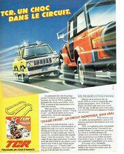 PUBLICITE ADVERTISING 027  1981  circuit camion voitures TCR  jeux jouets
