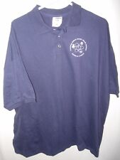 MENS NAVY BLUE COTTON GOLF POLO CALIFORNIA SCIENCE ATHLETIC SHIRT SIZE 3X 54