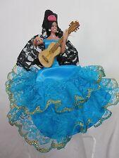 "Chiclana Marin Mini Flamenco Blue Doll Spain 5½"" NIB"