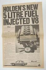 1989 Holden 5 Litre V8 Engine Large Newspaper Ad Australia wu3165