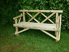 Garden Seat/Bench ECONOMY RUSTIC 4ft to seat 2 people (Del easily arranged)