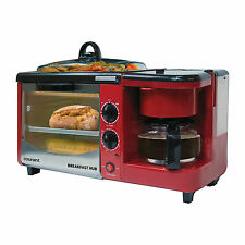 Courant CBH4601R 3-IN-1 Multifunction Breakfast Hub - Red