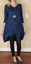 Beautiful Zedd Plus Taille 3 Lagenlook Stylish Tunic/Dress W Necklace orig.$295
