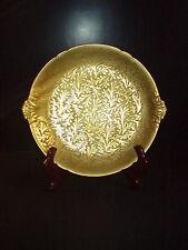 Charles Haviland Field Limoges Jesse Dean 1865 Cake Plate Heavy Gold