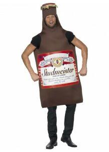 Studmeister Beer Bottle Lager Oktoberfest Fancy Dress Stag Buck's Party Costume