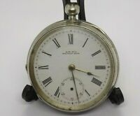 LARGE ANTIQUE SILVER WALTHAM MASS POCKET WATCH. 119 GRAMS. FOR REPAIRS.  (NCB)