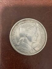 More details for latvia1929 5 lati silver crown coin ef condition