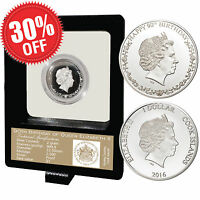 Authentic 2016 Queen Elizabeth 90th Birthday Proof 999.9 Silver Limited Coin COA