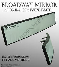 Broadway 400mm Wide Convex Interior Clear Rear View Universal Fit Mirror A407