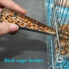 Parrot Feeder Feeding Supply For Pet Bird Stainless Steel Food Shovel Cage Tool
