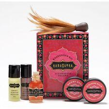 Kama Sutra Weekender Kit Strawberry Massage Oil Honey Dust Feather Romantic Gift