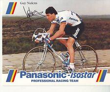 CYCLISME carte  cycliste GUY NULENS  équipe PANASONIC isostar 1988